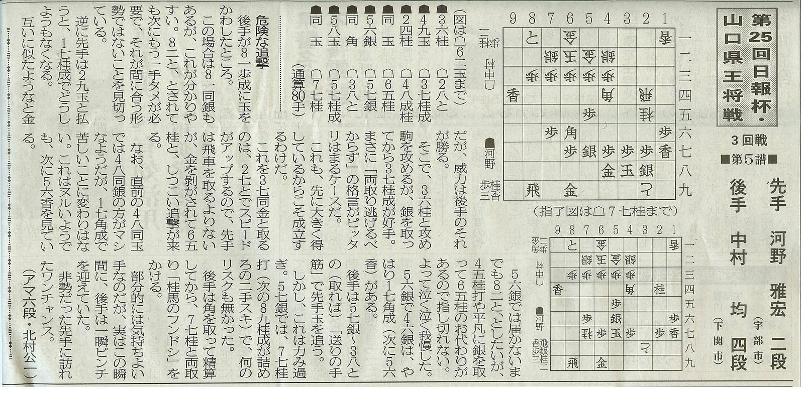 第25回日報杯・山口県王将戦第3回戦■第5譜■