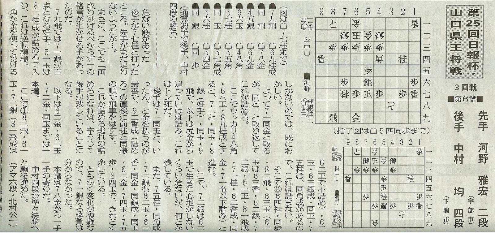 第25回日報杯・山口県王将戦第3回戦■第6譜■
